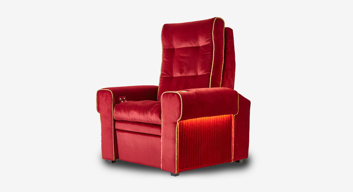 Red Moovia theater seat