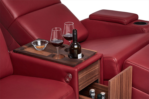 side table and cupholders